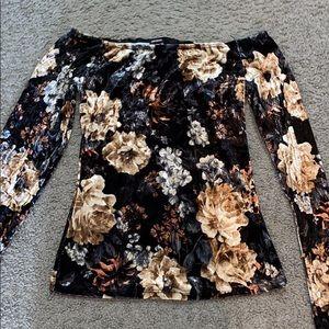 Floral Velvet top